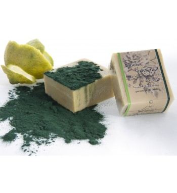 Jabón de lima orgánica y alga espirulina