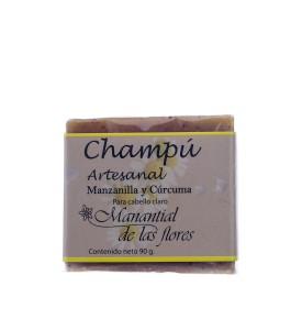 Champú artesanal de manzanilla y cúrcuma