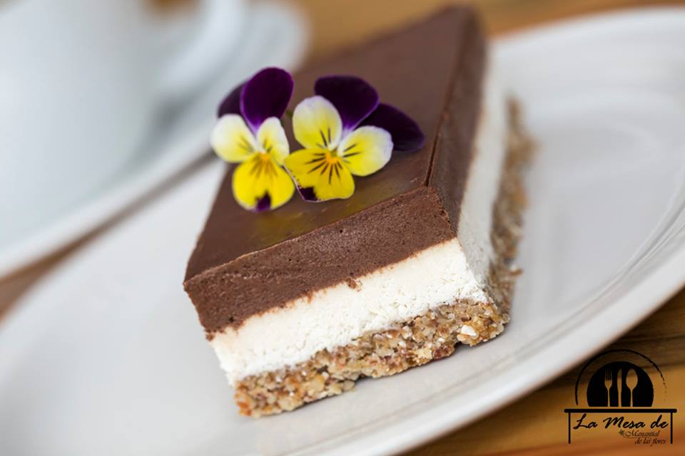Tarta helada de chocolate crudi-vegana
